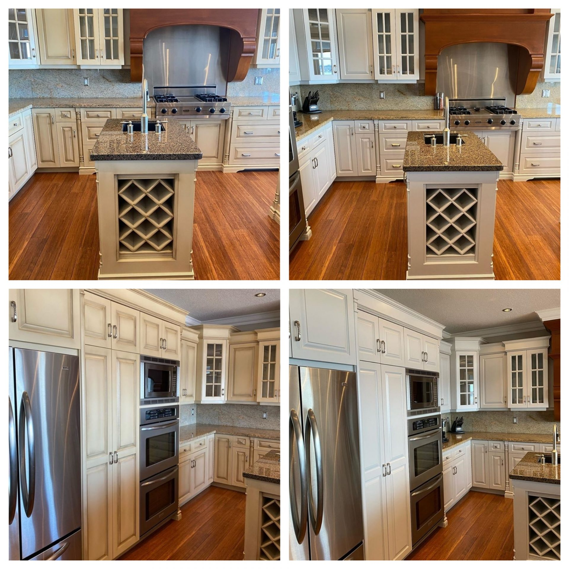 Refinishing And Painting Kitchen Cabinets Before And After Pictures